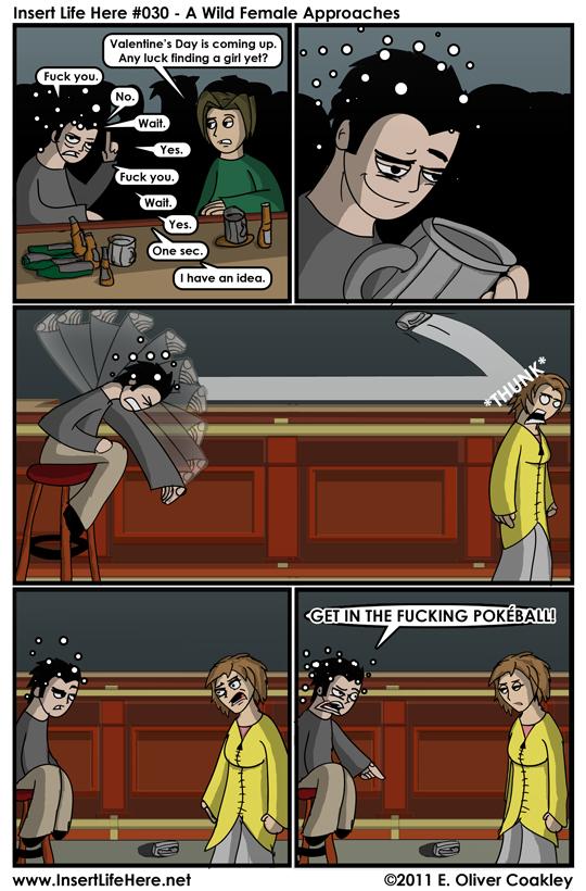 Eli uses 'Mug Toss'. It's not very effective...